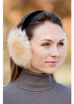 Small Arctic Fox Fur Earmuffs