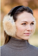 Women's Small Arctic Fox Fur Earmuffs
