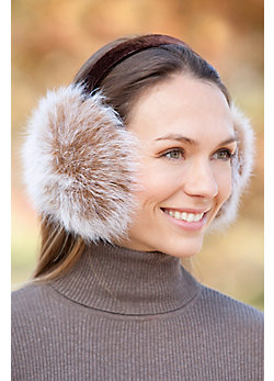 Arctic Fox Fur Earmuffs