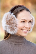 Women's Arctic Fox Fur Earmuffs