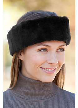 Sheared Beaver Fur Headband