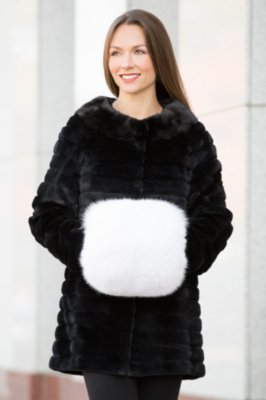 Women's Fox Fur Hand Muff