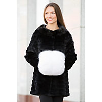 Womens Fox Fur Hand Muff $359.00 AT vintagedancer.com