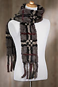 Plaid Knitted Danish Mink Fur Scarf