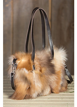 Juliette Crystal Fox Fur Handbag