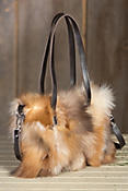 Women's Juliette Crystal Fox Fur Handbag