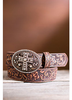 Vintage Cross Leather Belt