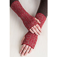 Women's Glacier Peruvian Alpaca Wool Fingerless Gloves