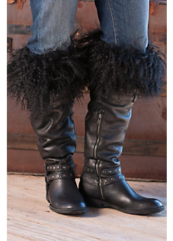 Women's Mongolian Lamb Fur Boot Toppers