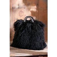 Women's Tibetan Lamb Fur Tote Handbag Western & Country