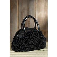 Women's Lace And Rabbit Fur Rosette Handbag Western & Country