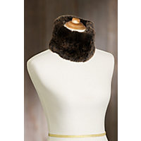 Knitted Rex Rabbit Fur Convertible Neck Warmer and Headband BLACKBROWN Size 1 Size $59.00 AT vintagedancer.com