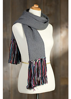 Women's Cotton Tasseled Scarf