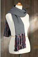 Women's Handmade Cotton Tasseled Scarf