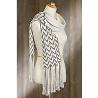 Indigenous Zig Zag Alpaca Wool-Blend Scarf SUGAR MIX Size 1 Size 11.5quot x 81quot $79.00 AT vintagedancer.com