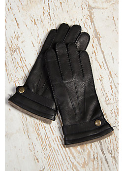 Men's Dents Casual Deerskin Leather Gloves with Cashmere Lining