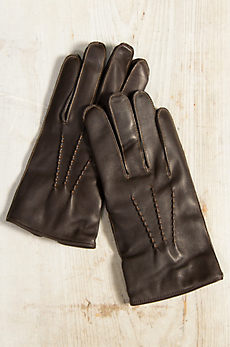 Men's Dents Clyne Cashmere-Lined Lambskin Leather Gloves