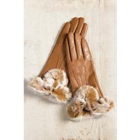 Vintage Style Gloves Womens Dents Amelia Gloves with Rabbit Fur Trim MOCCA Size 8 $119.00 AT vintagedancer.com