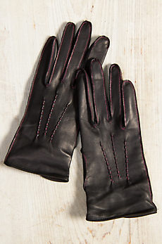 Women's Dents Hengrave Silk-Lined Lambskin Leather Gloves
