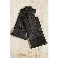 Vintage Style Gloves Womens Dents Amelia Gloves with Rabbit Fur Trim BLACK Size 8 $199.00 AT vintagedancer.com
