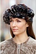 Women's Knitted Rex Rabbit Fur Beret II