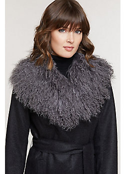 Tibetan Curly Lamb Fur Collar