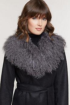Tibetan Curly Lamb Fur Collar