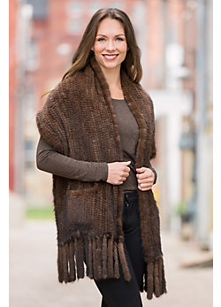 Tait Knitted Mink Fur Wrap
