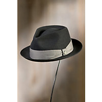 Griffin Tear Drop Goorin Brothers Wool Fedora Hat BLACK Size XLarge 7 58 $62.00 AT vintagedancer.com