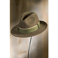 Bear Goorin Brothers Wool Fedora Hat OLIVE Size XLarge 7 58 $65.00 AT vintagedancer.com