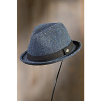 Los Fox Goorin Brothers Wool-Blend Fedora Hat BLUE Size XLarge 7 58 $58.00 AT vintagedancer.com
