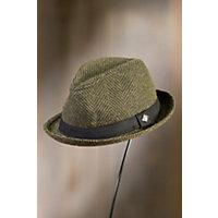 Los Fox Goorin Brothers Wool-Blend Fedora Hat OLIVE Size XLarge 7 58 $58.00 AT vintagedancer.com