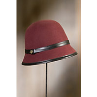Aleesha Goorin Brothers Wool Cloche Hat BURGUNDY Size Medium 7 18 $55.00 AT vintagedancer.com
