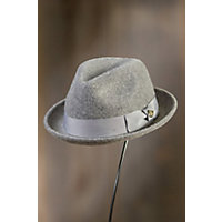 1950's Mens Hats Rude Boy Goorin Brothers Wool Fedora Hat GREY Size Large 7 38 $54.00 AT vintagedancer.com