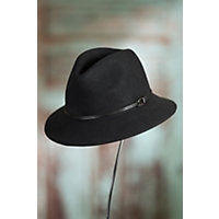 1940s Hats History Goorin Bros. Sofia Wool Fedora Hat BLACK Size SMALL 21 58quot circumference $63.00 AT vintagedancer.com