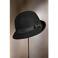 Goorin Bros. Ella Wool Cloche Hat BLACK Size SMALL 21 58quot circumference $50.00 AT vintagedancer.com