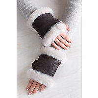 Overland B-3 Sheepskin Fingerless Gloves
