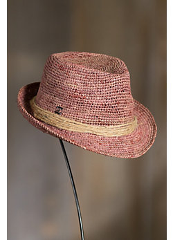 Kingwood Crocheted Raffia Fedora Hat