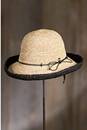 Roswell Crocheted Raffia Kettle Hat