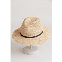 Crocheted Raffia Safari Hat NATURAL Size Large XLarge