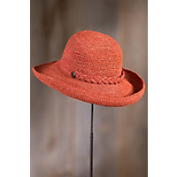 Crocheted Raffia Upturn Hat