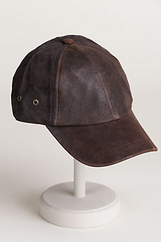 Stetson Suede and Buffalo Hide Baseball Cap