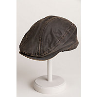 Weathered Cotton-Blend Ivy Cap with Fleece-Lined Earflap, BROWN