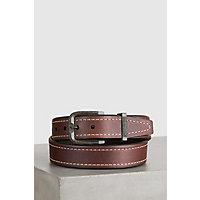 Overland Granada Bison Leather Belt, SADDLE, Size 34