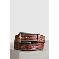 Overland Chippewa Bison Leather Belt, SADDLE/PEANUT, Size 38