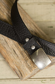 Overland Pow Wow Bison Leather Belt