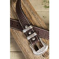 Overland Wild Bill II Bison Leather Belt, BROWN, Size 38