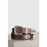 Overland Dallas Bison Leather Belt, SADDLE, Size 36