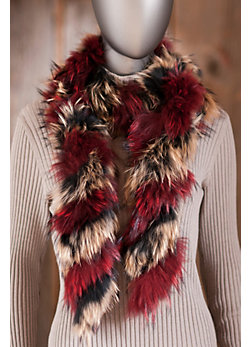 Women's Twisted Raccoon Fur Boa