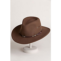 Stetson Wildwood Crushable Wool Cowboy Hat, ACORN, Size LARGE (7 1/4 - 7 3/8)